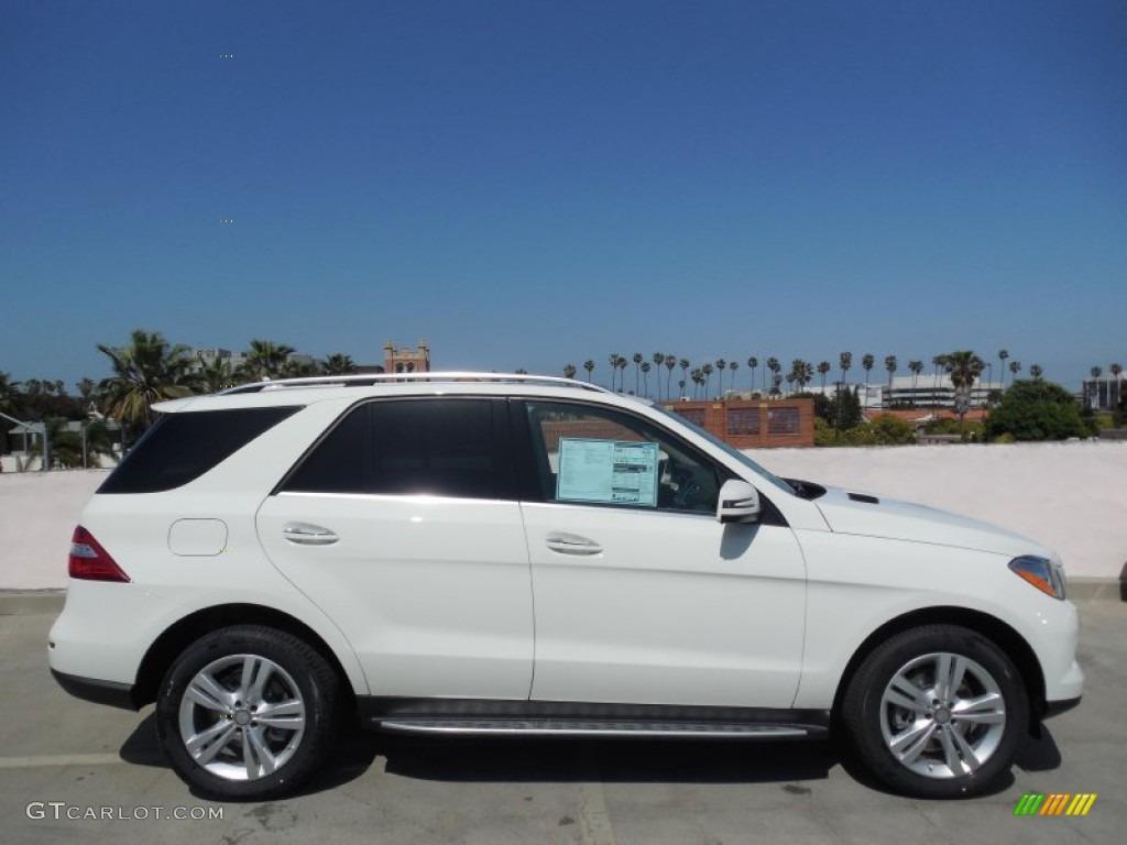 Arctic white 2013 mercedes benz ml 350 4matic exterior for Mercedes benz polar white paint