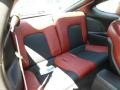 2008 Hyundai Tiburon SE Red Leather/Black Sport Grip Interior Rear Seat Photo