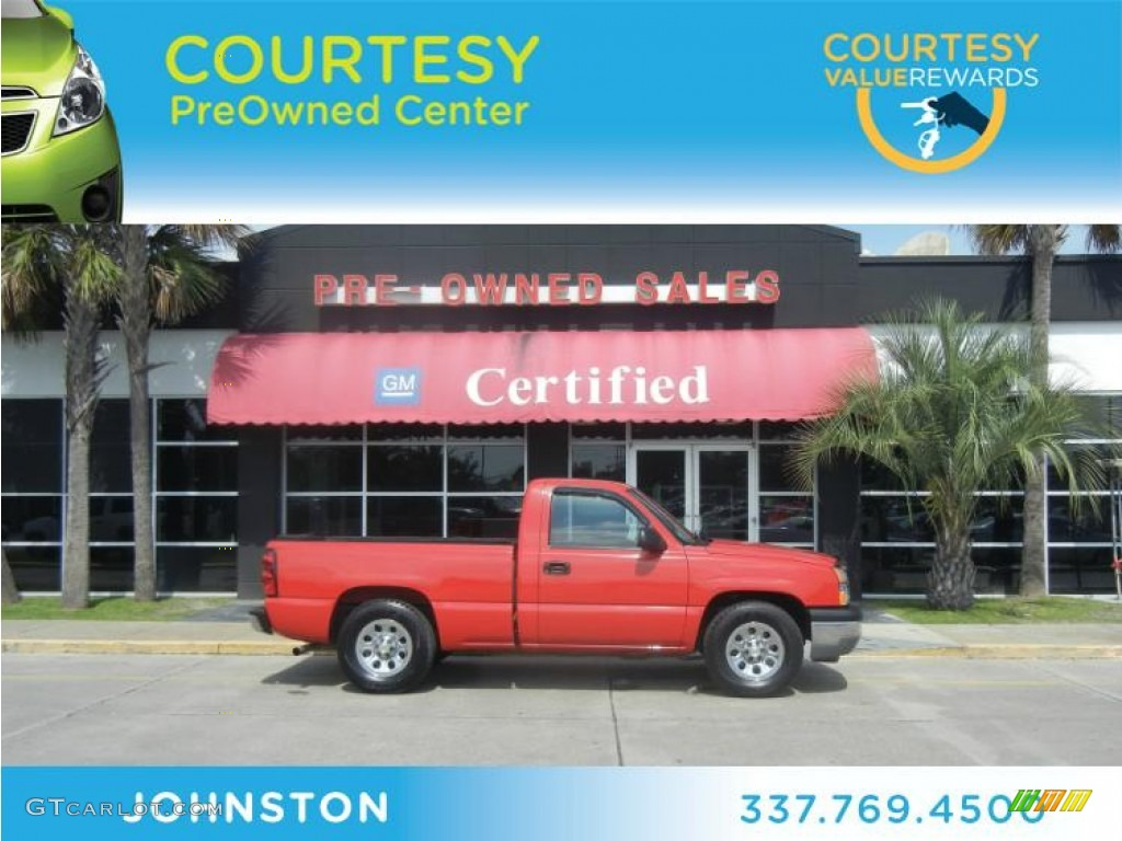2005 Silverado 1500 Regular Cab - Victory Red / Tan photo #1
