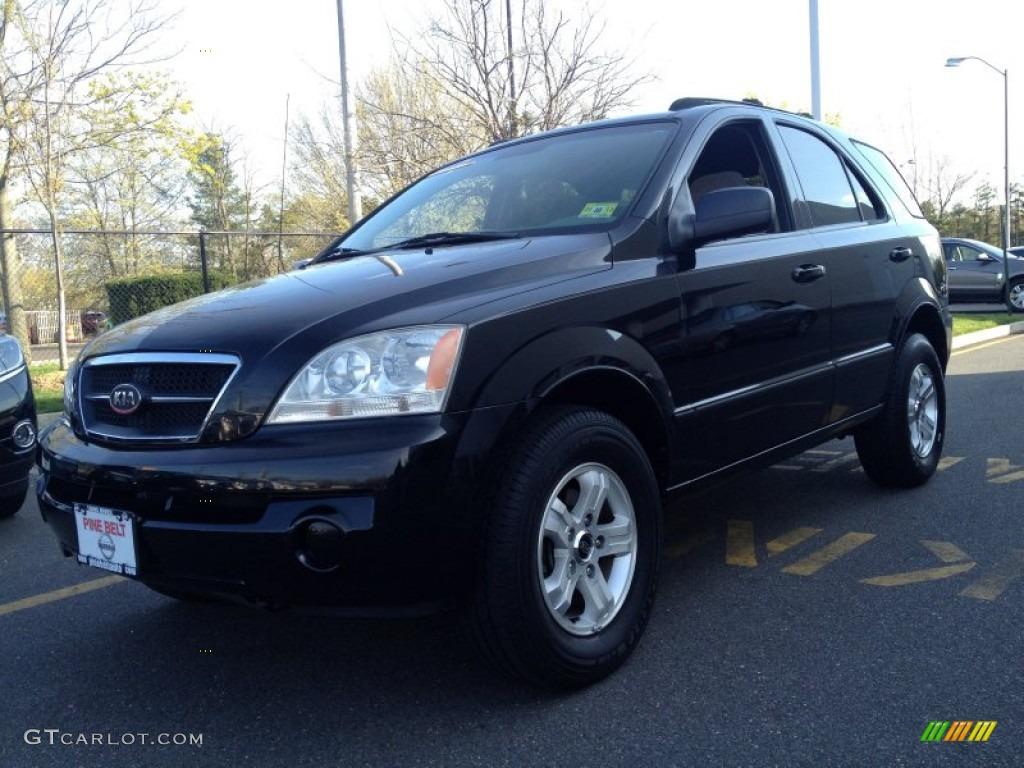 2005 Sorento LX 4WD   Ebony Black / Beige Photo #1