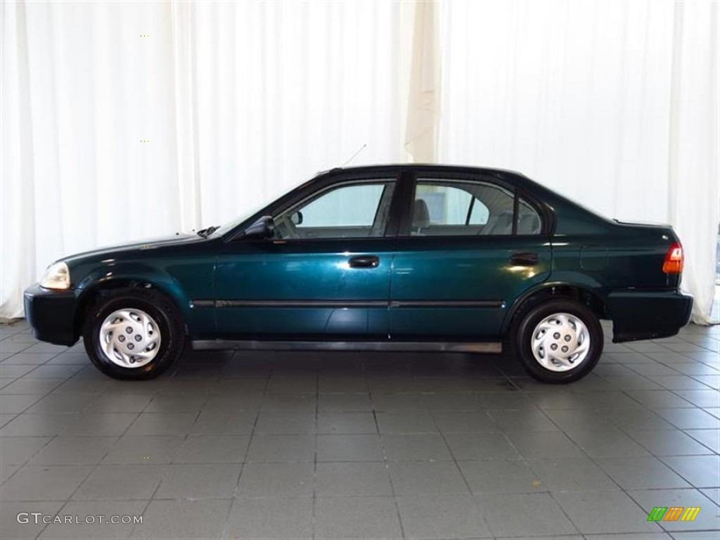 cypress green pearl metallic 1996 honda civic dx sedan. Black Bedroom Furniture Sets. Home Design Ideas