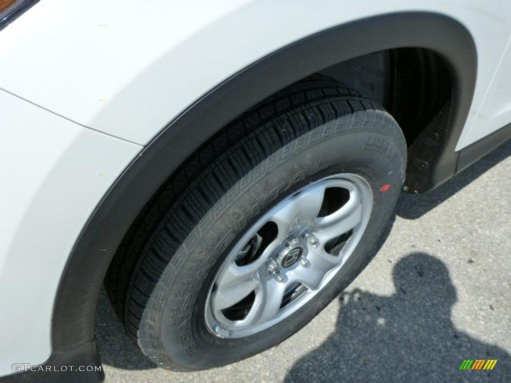 2013 CR-V LX AWD - White Diamond Pearl / Gray photo #9