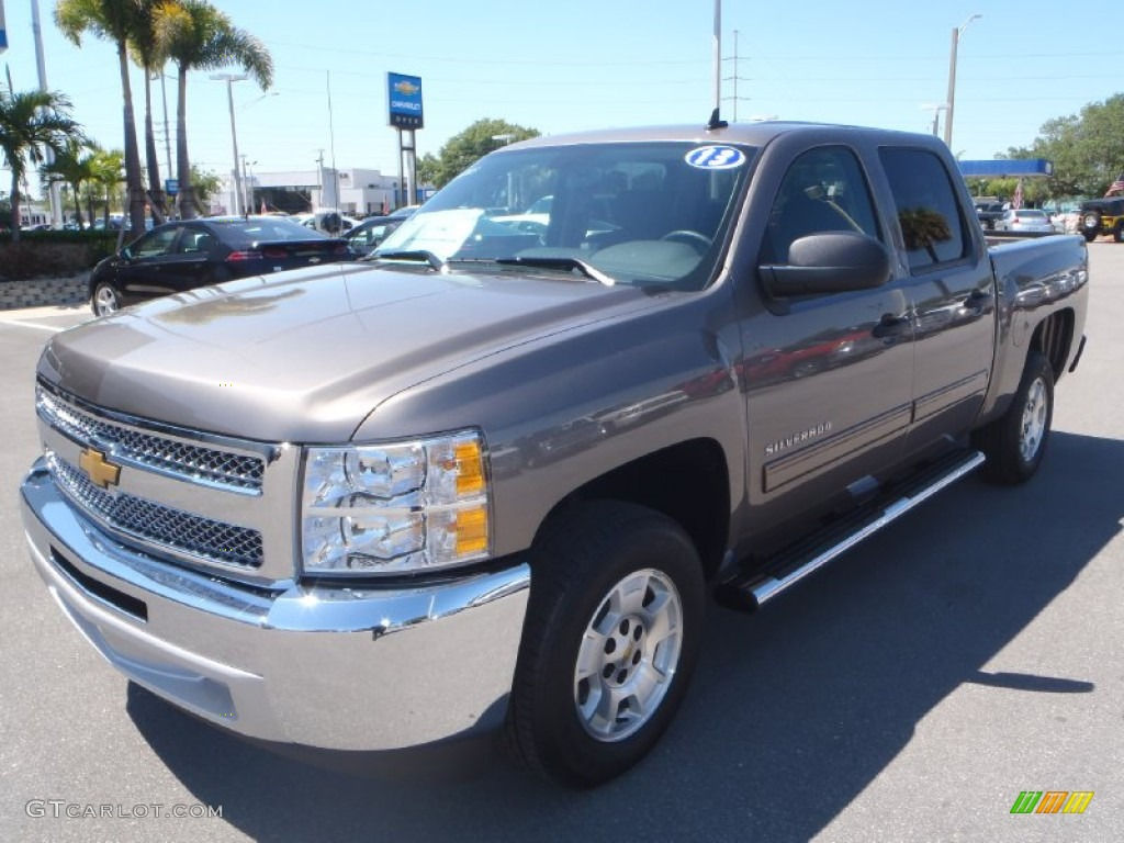 2013 Silverado 1500 LT Crew Cab - Mocha Steel Metallic / Ebony photo #1