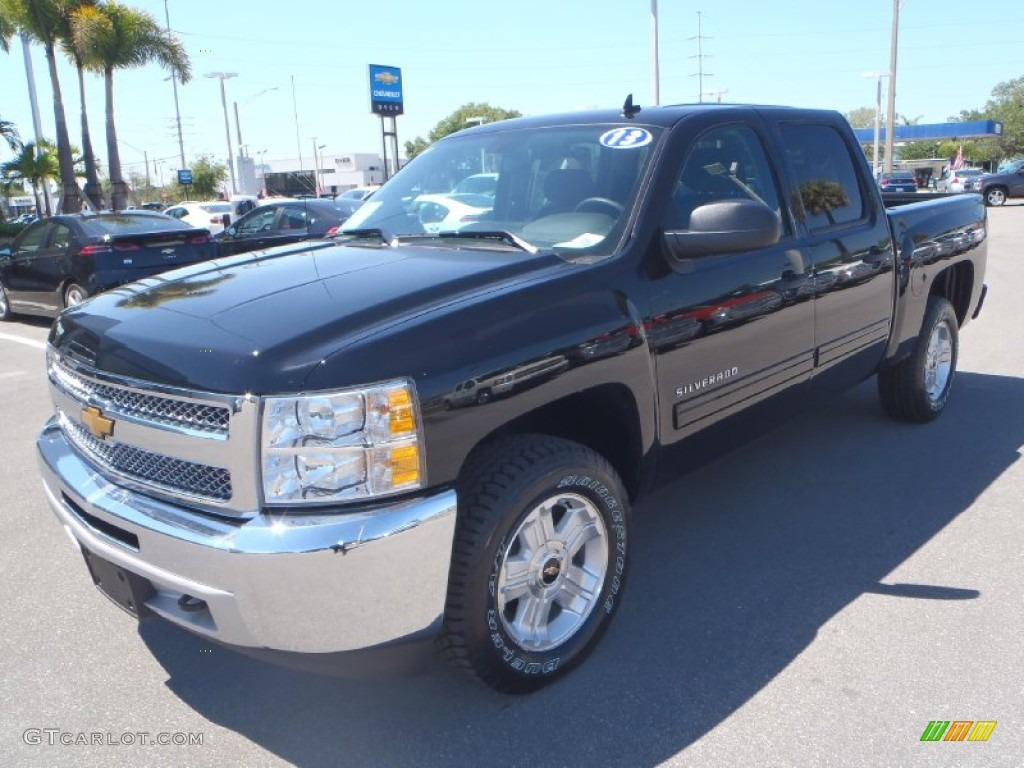 2013 Silverado 1500 LT Crew Cab 4x4 - Black / Ebony photo #1