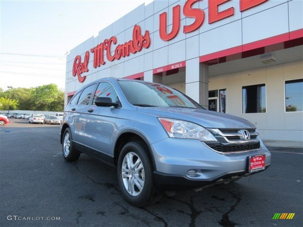 2011 CR-V EX - Glacier Blue Metallic / Gray photo #1