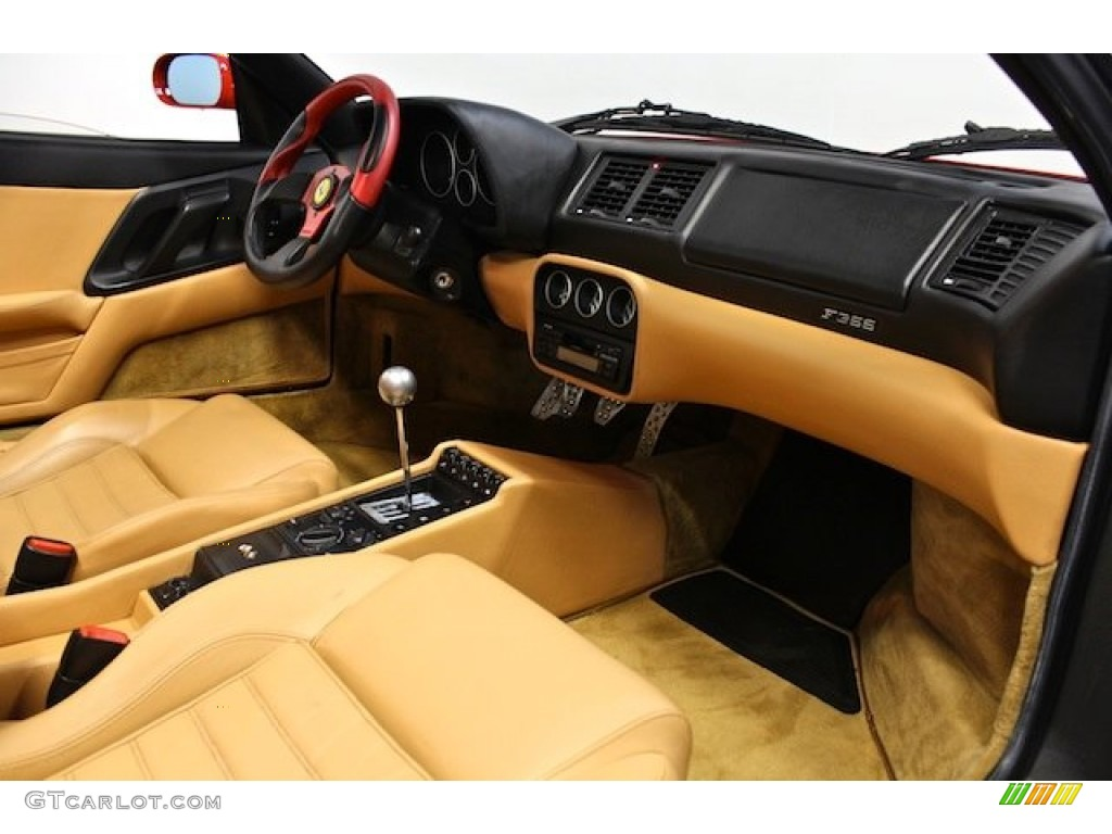 1997 Ferrari F355 Spider Tan Dashboard Photo #80397936