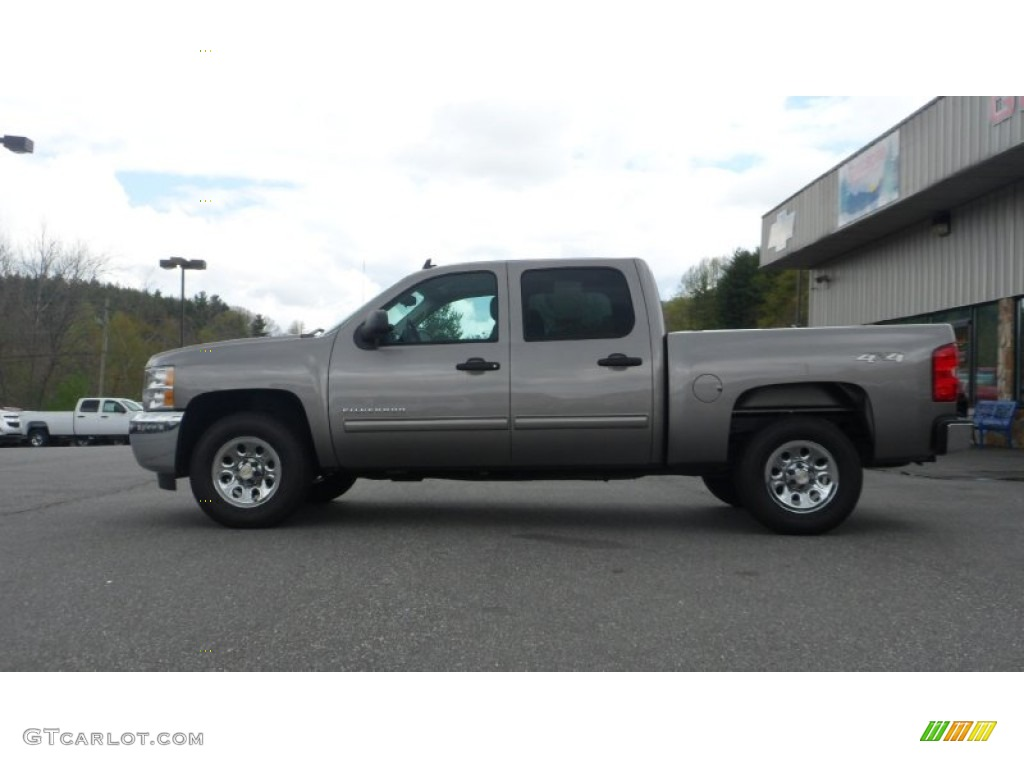 2012 Silverado 1500 LS Crew Cab 4x4 - Graystone Metallic / Dark Titanium photo #1