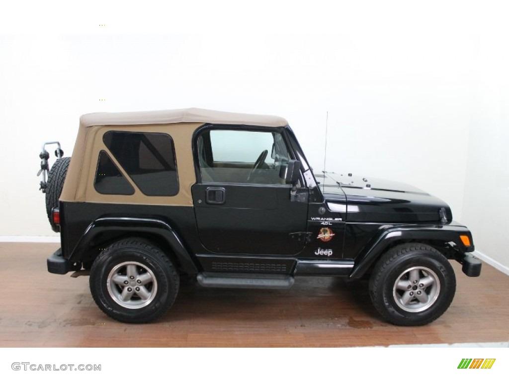 Black 1998 Jeep Wrangler Sahara 4x4 Exterior Photo 80428336