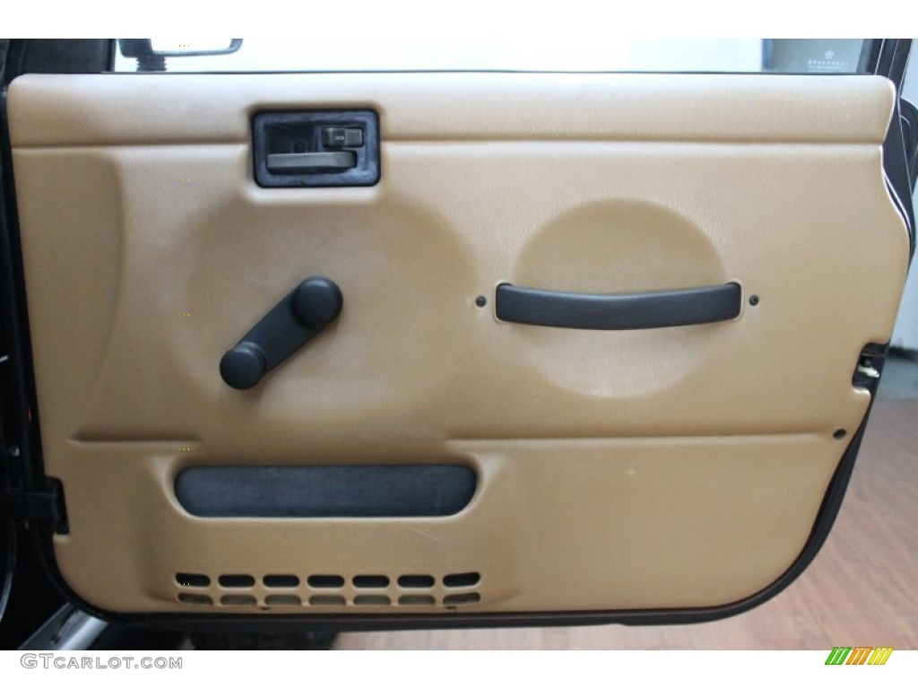 1998 Jeep Wrangler Sahara 4x4 Green Khaki Door Panel Photo