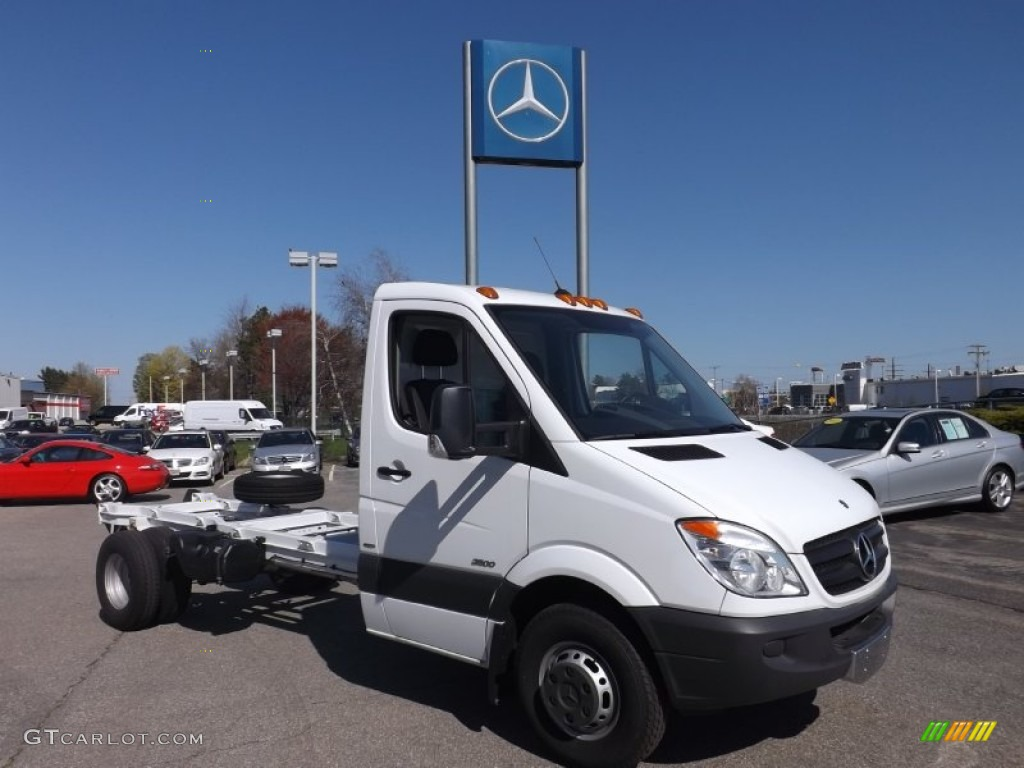 Arctic white 2012 mercedes benz sprinter 3500 chassis for Mercedes benz 3500