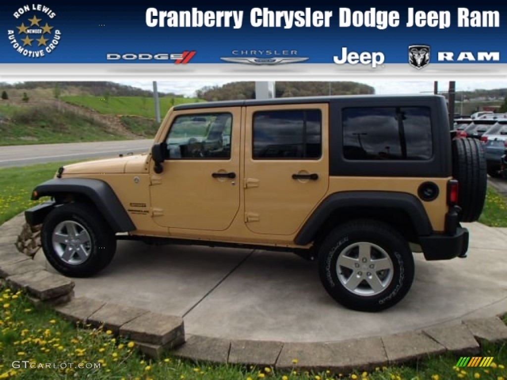2013 Dune Jeep Wrangler Unlimited Sport S 4x4  80425370