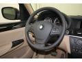 Sand Beige Steering Wheel Photo for 2014 BMW X3 #80476307