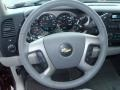 2013 Chevrolet Silverado 1500 Light Titanium/Dark Titanium Interior Steering Wheel Photo
