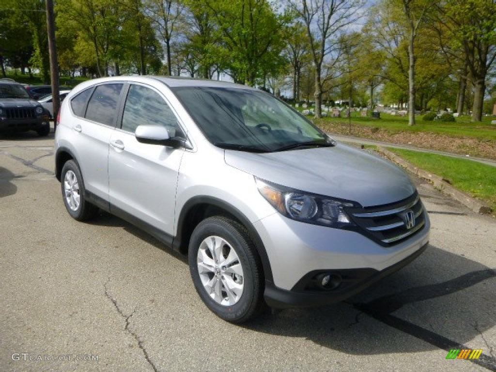 2013 CR-V EX AWD - Alabaster Silver Metallic / Black photo #1