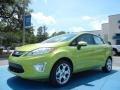 2013 Lime Squeeze Ford Fiesta Titanium Sedan  photo #1