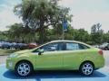 2013 Lime Squeeze Ford Fiesta Titanium Sedan  photo #2