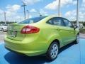 2013 Lime Squeeze Ford Fiesta Titanium Sedan  photo #3