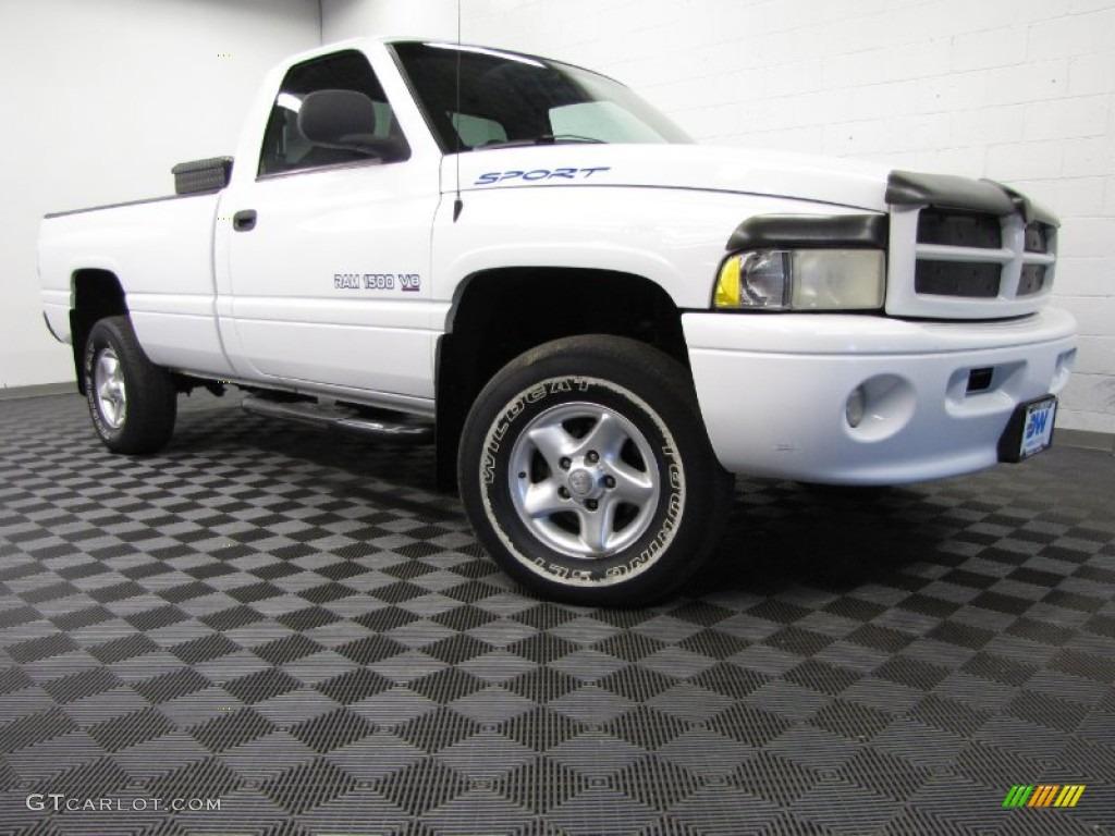 2000 Bright White Dodge Ram 1500 Sport Regular Cab 4x4 80480864