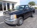 2013 Black Chevrolet Silverado 1500 Work Truck Regular Cab  photo #1
