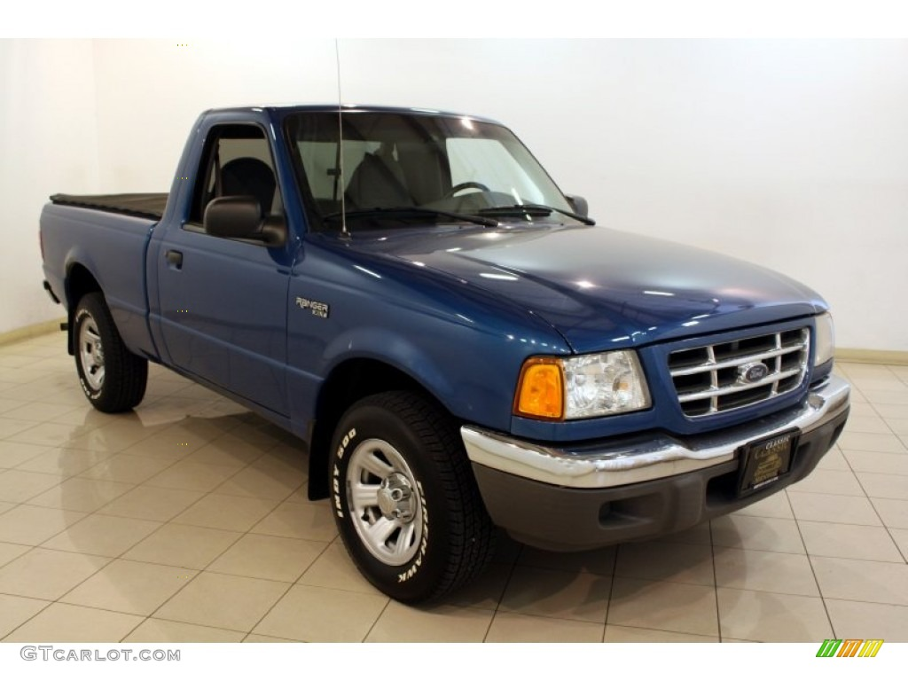 2002 ranger xlt regular cab bright island blue metallic dark graphite photo 1