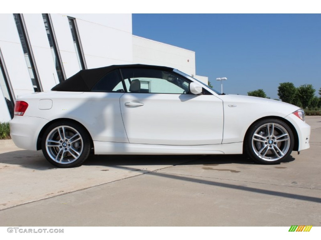 alpine white 2013 bmw 1 series 135i convertible exterior photo 80569378. Black Bedroom Furniture Sets. Home Design Ideas