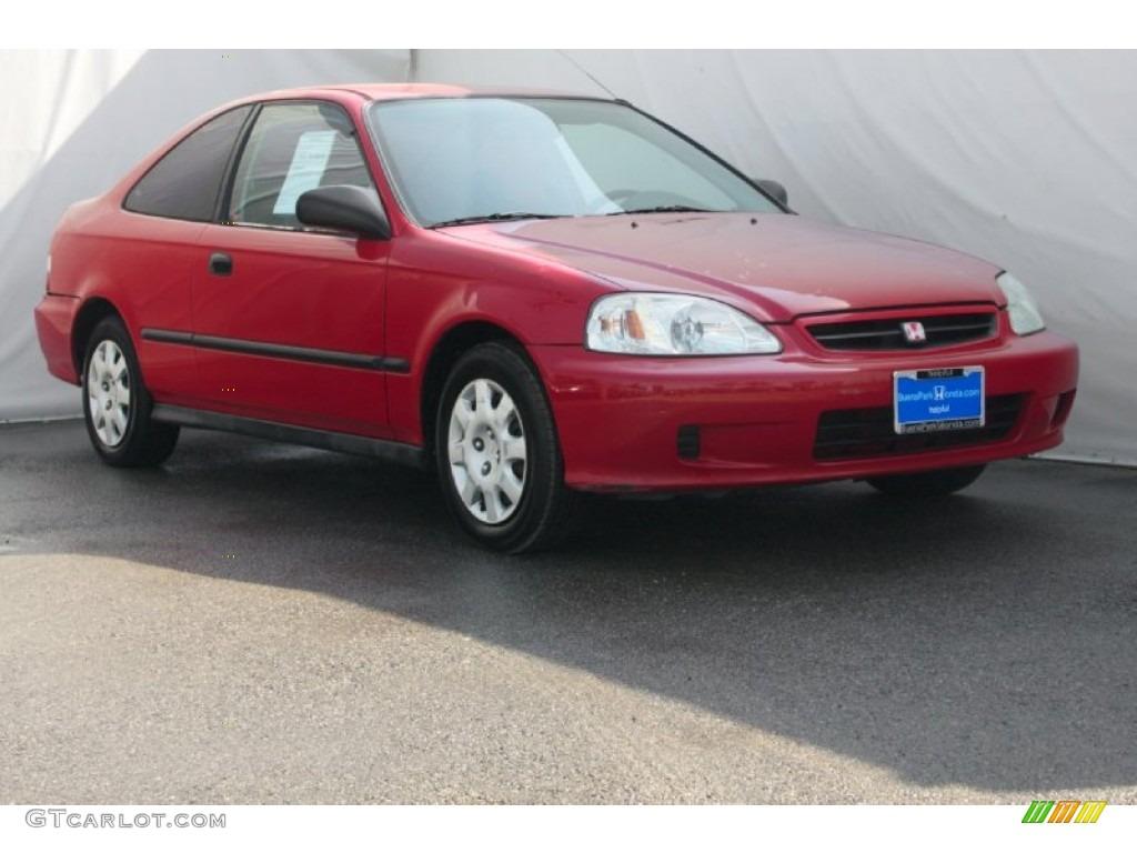 1999 Roma Red Honda Civic Dx Coupe 80538975 Gtcarlot Com Car