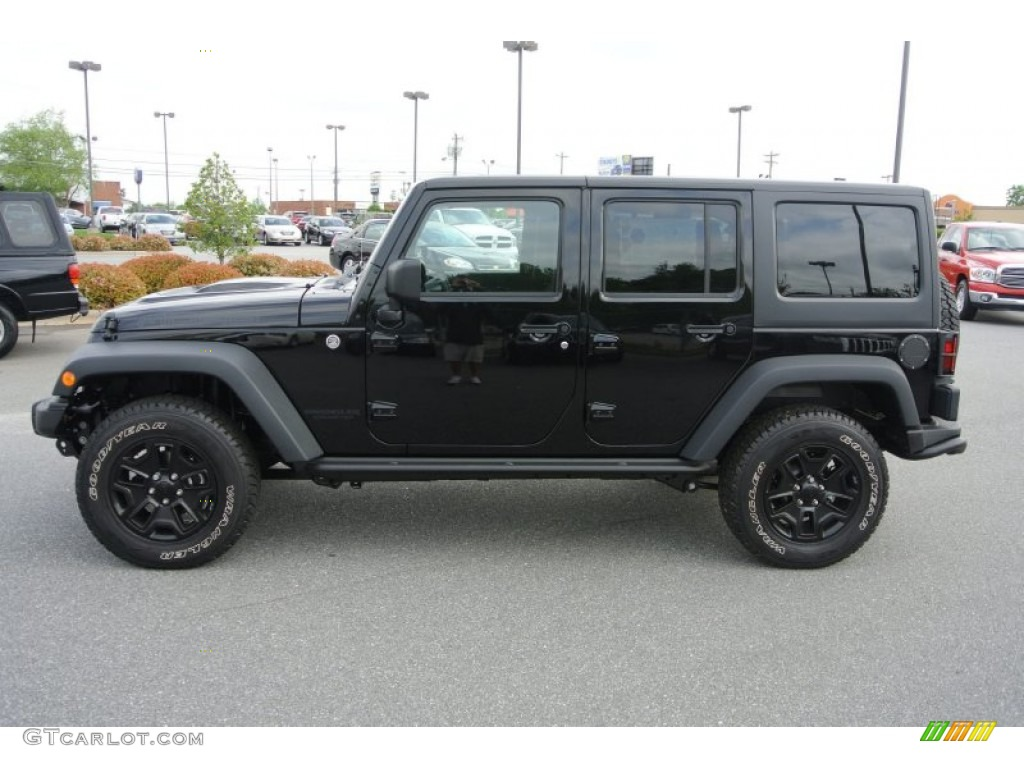 Black 2013 Jeep Wrangler Unlimited Moab Edition 4x4 Exterior Photo #80595298