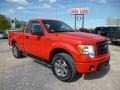 Vermillion Red 2011 Ford F150 STX Regular Cab 4x4