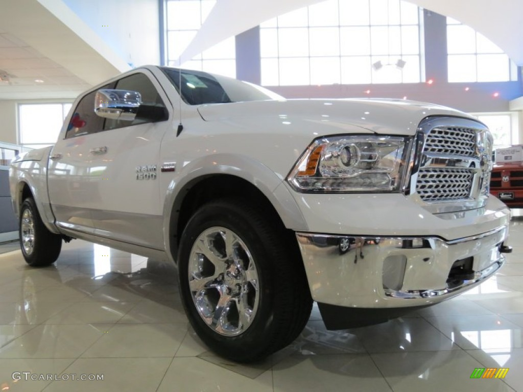 2013 bright white ram 1500 laramie crew cab 4x4 80593014 photo 5 car color. Black Bedroom Furniture Sets. Home Design Ideas