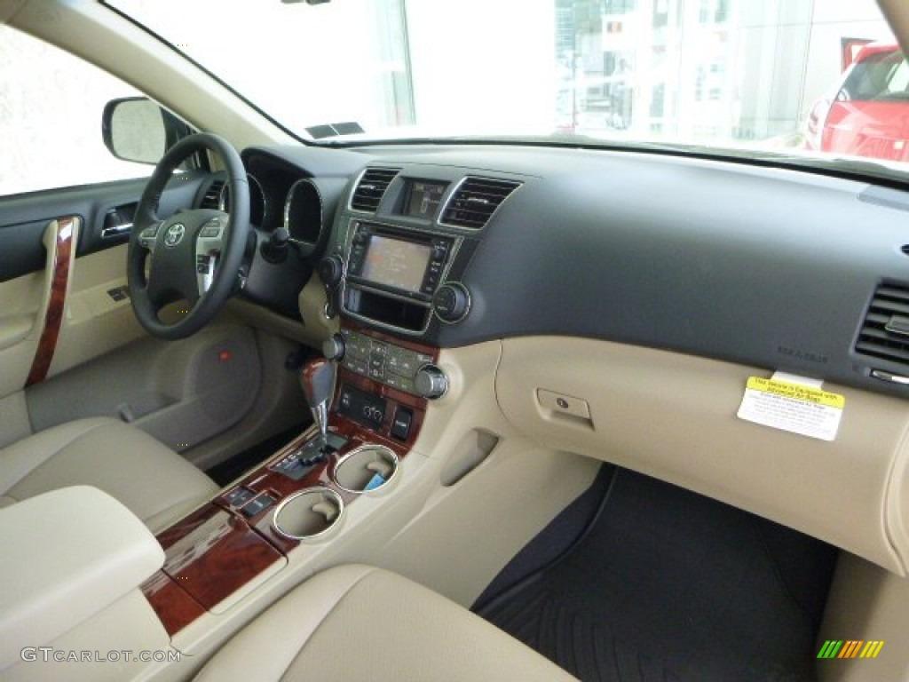 2013 Shoreline Blue Pearl Toyota Highlander Limited 4wd 80592769 Photo 10 Car