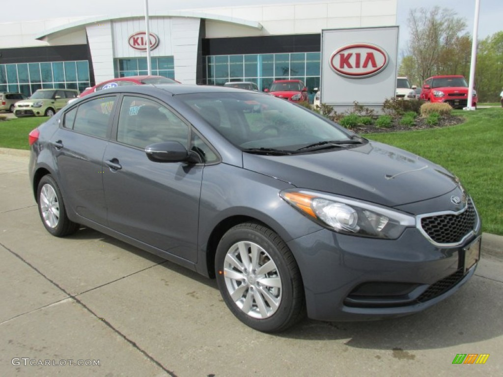 Steel Blue Kia Forte