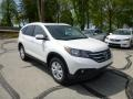 2013 White Diamond Pearl Honda CR-V EX-L AWD  photo #1