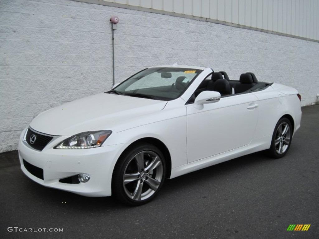 2012 Starfire White Pearl Lexus Is 250 C Convertible