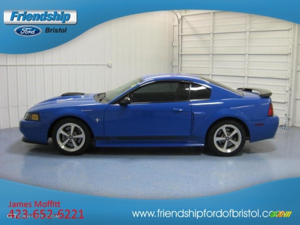 2003 Mustang Mach 1 Coupe - Sonic Blue Metallic / Dark Charcoal photo #1