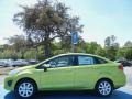 2013 Lime Squeeze Ford Fiesta SE Sedan  photo #2