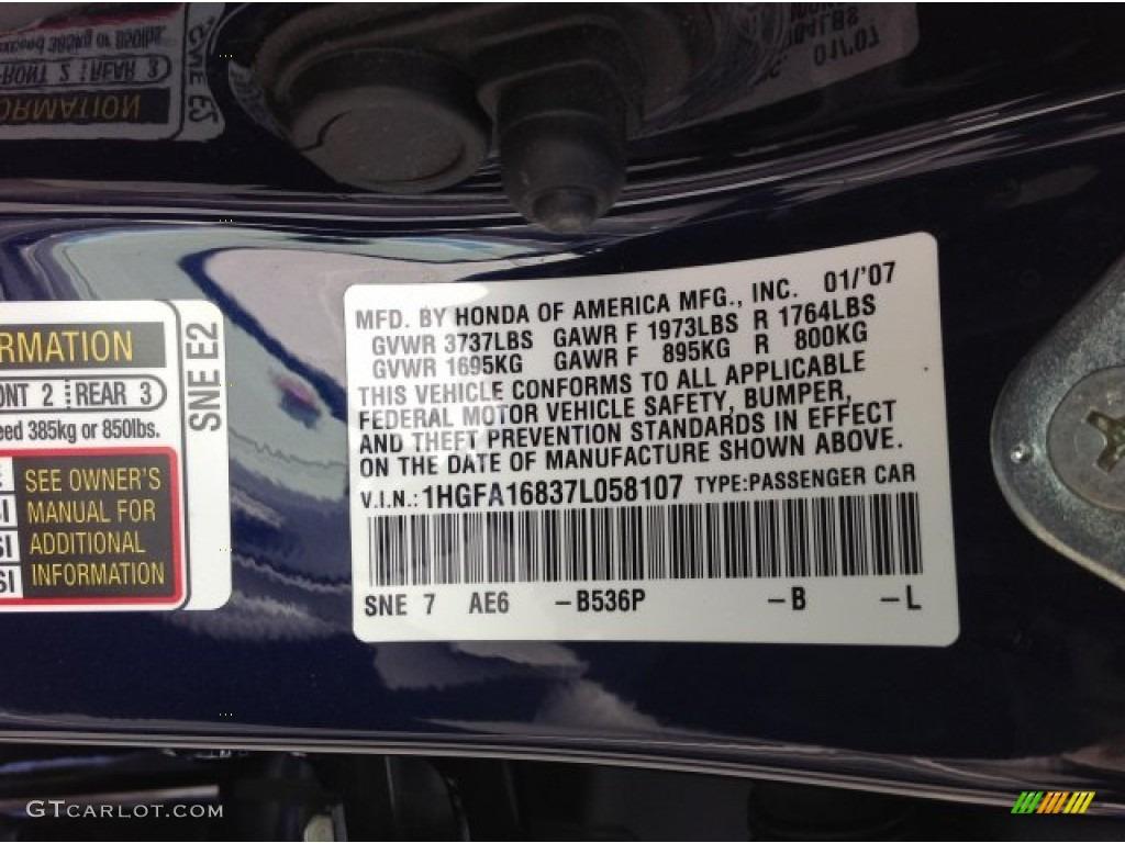 Honda Blackbird Paint Codes