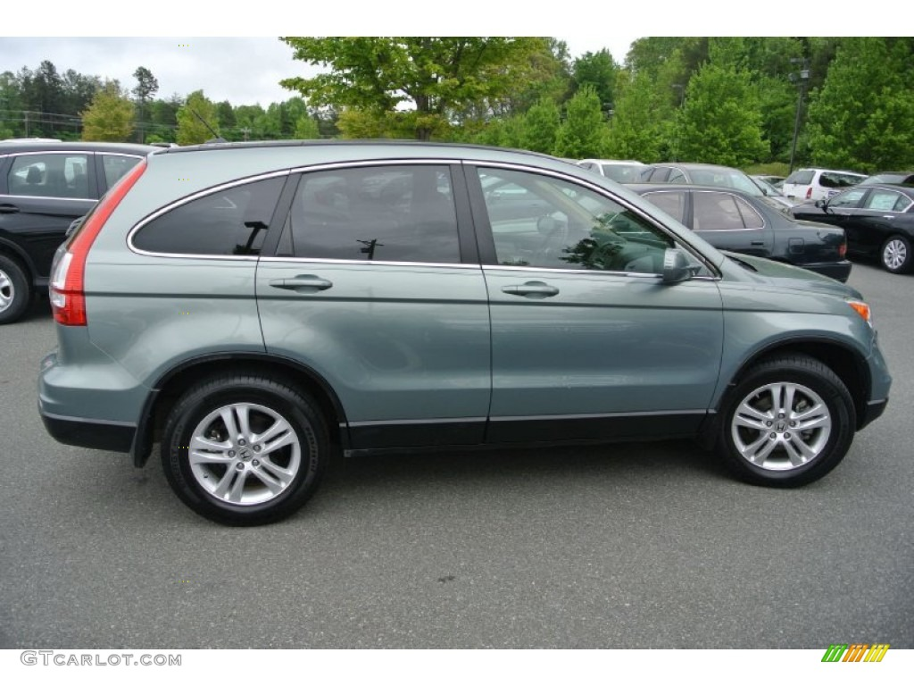 2010 CR-V EX-L - Opal Sage Metallic / Ivory photo #3