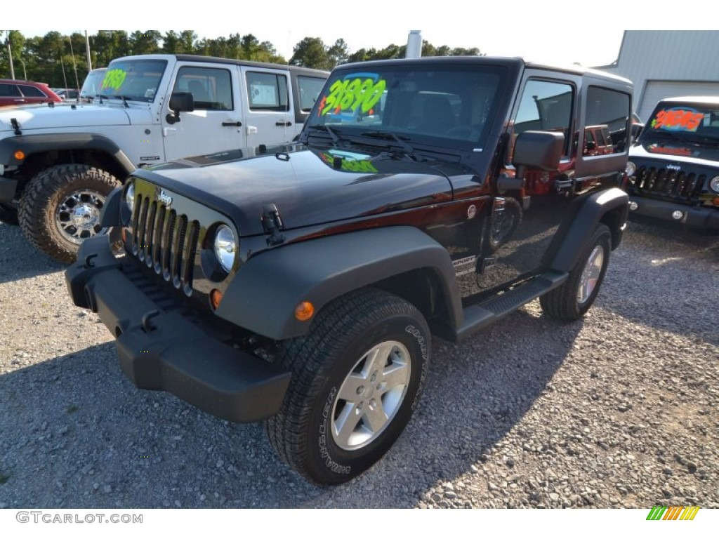 2013 jeep wrangler sport s 4x4 rugged brown color black interior. Cars Review. Best American Auto & Cars Review