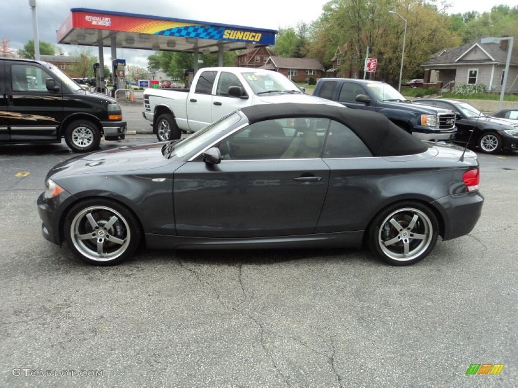 2008 Sparkling Graphite Metallic BMW 1 Series 135i Convertible ...