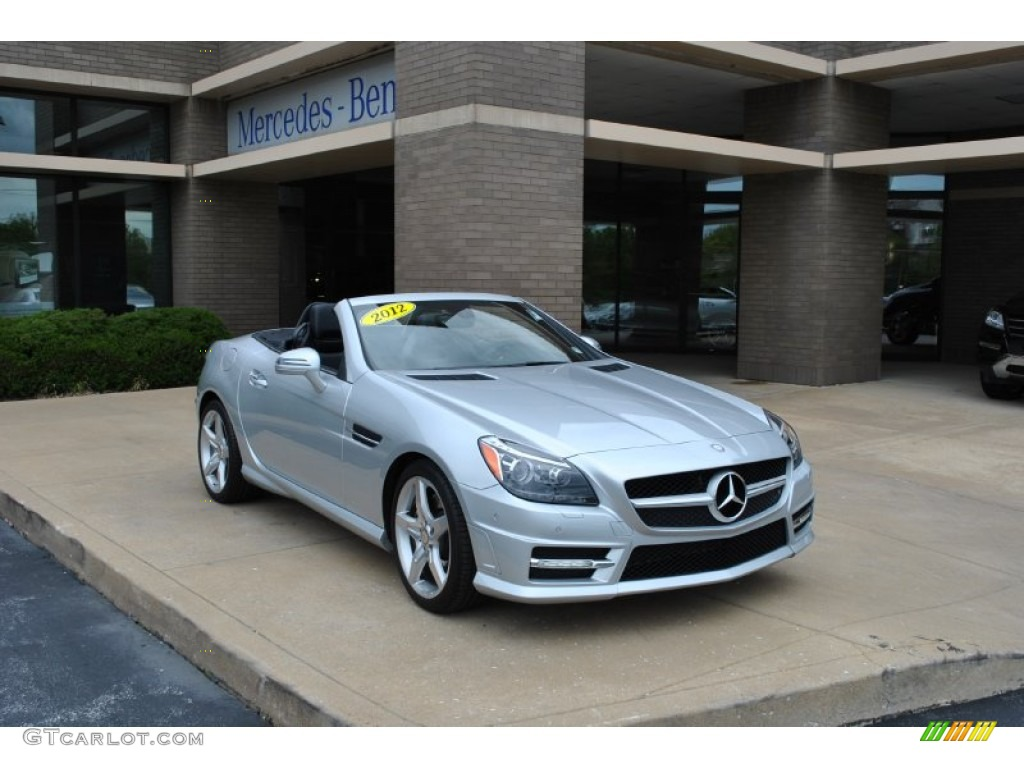 2012 iridium silver metallic mercedes benz slk 350 for Mercedes benz silver