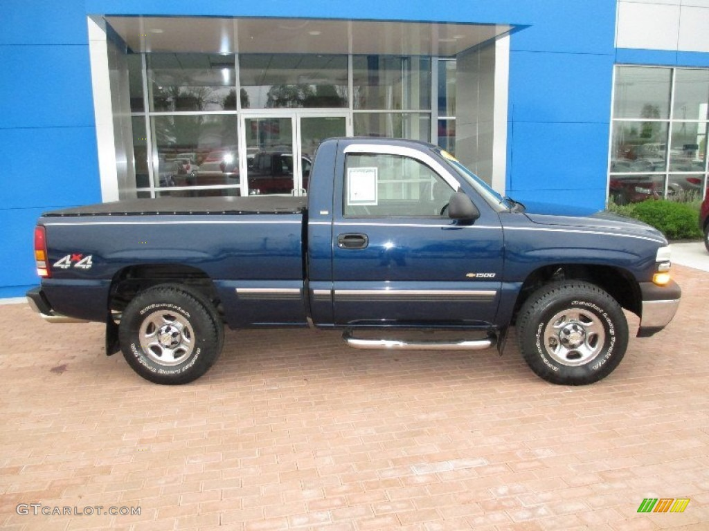 indigo blue metallic 1999 chevrolet silverado 1500 ls regular cab 4x4 exterior photo 80697602. Black Bedroom Furniture Sets. Home Design Ideas