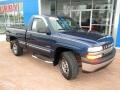 1999 Indigo Blue Metallic Chevrolet Silverado 1500 LS Regular Cab 4x4  photo #13