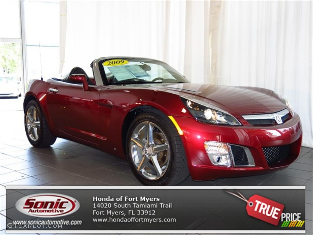 2009 ruby red saturn sky red line ruby red special edition roadster 80722906. Black Bedroom Furniture Sets. Home Design Ideas