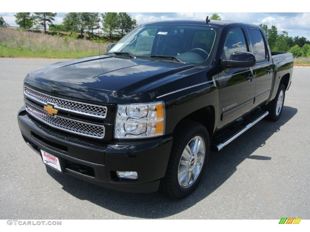 2013 Silverado 1500 LTZ Crew Cab 4x4 - Black / Ebony photo #1