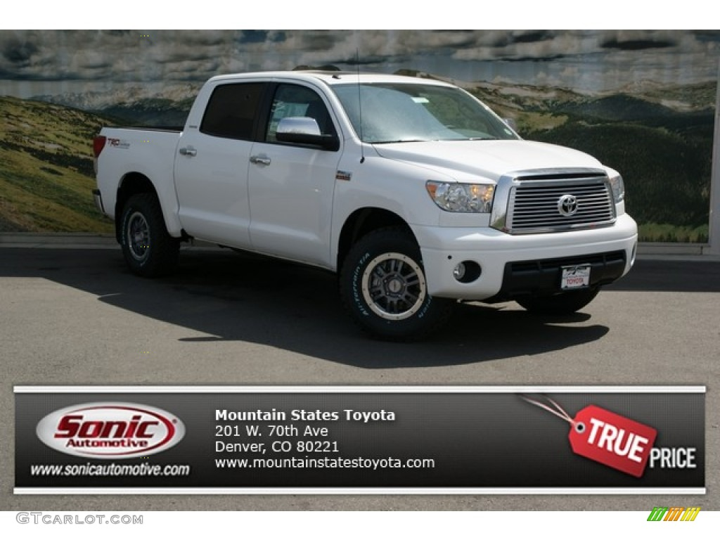 2013 Tundra TRD Rock Warrior CrewMax 4x4 - Super White / Graphite photo #1