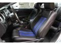 2014 Ford Mustang Shelby Charcoal Black/Blue Accents Interior Front Seat Photo