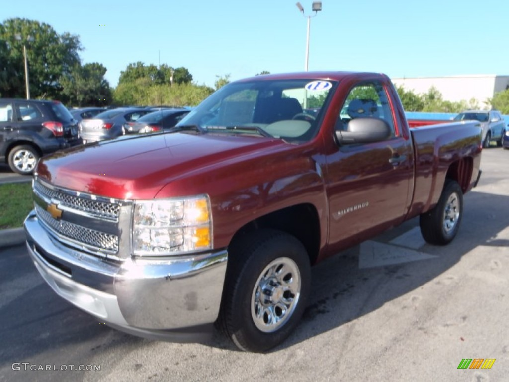 2013 Silverado 1500 LS Regular Cab - Deep Ruby Metallic / Dark Titanium photo #1
