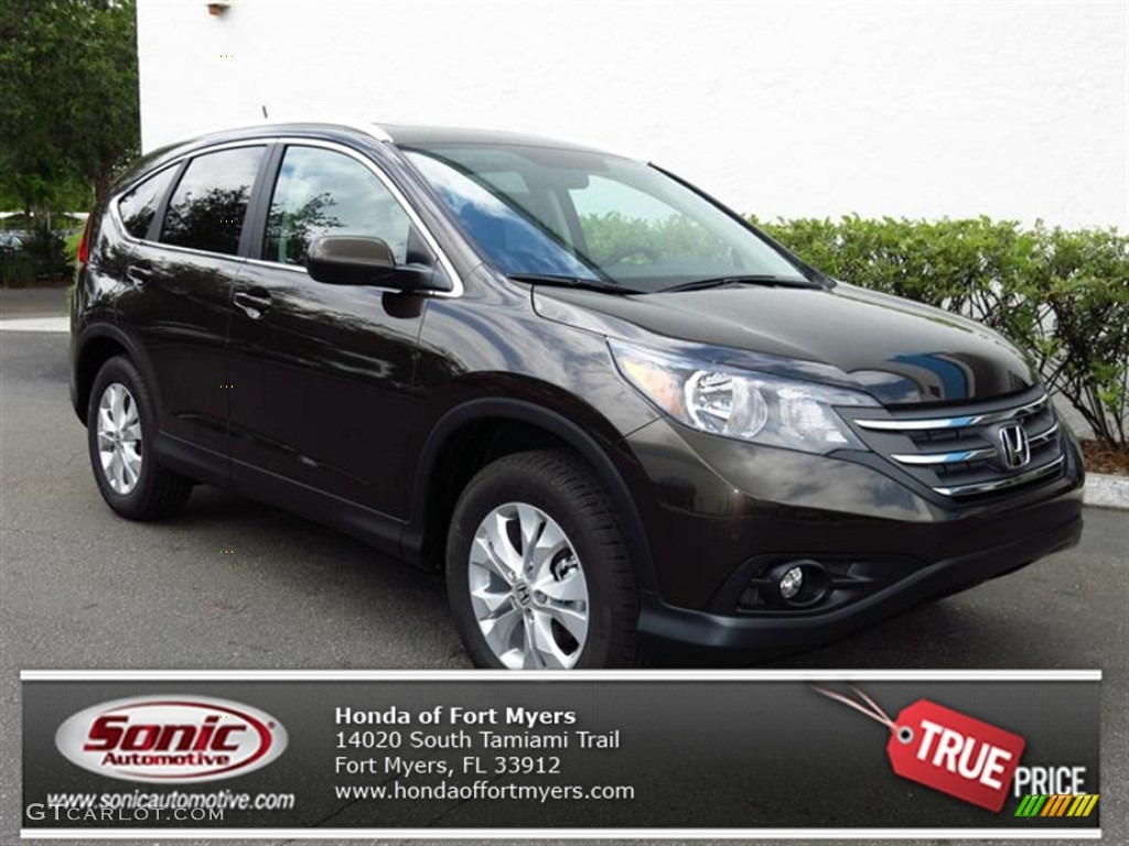 2013 CR-V EX-L - Kona Coffee Metallic / Black photo #1