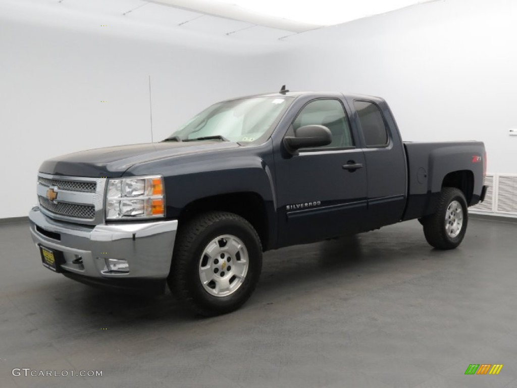 2012 Silverado 1500 LT Extended Cab - Imperial Blue Metallic / Light Titanium/Dark Titanium photo #1