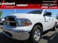 2012 Bright White Dodge Ram 1500 SLT Quad Cab  photo #1